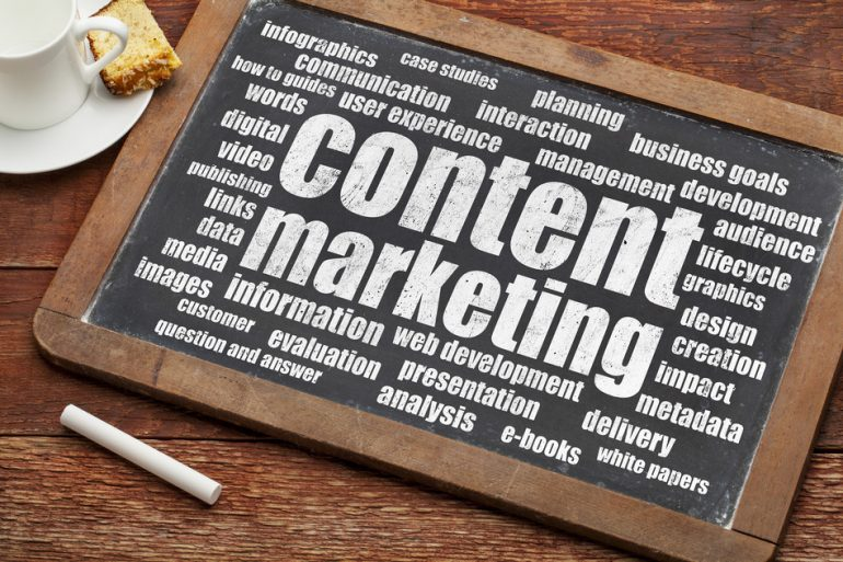 spread your stories using social media as part of a content marketing campaign