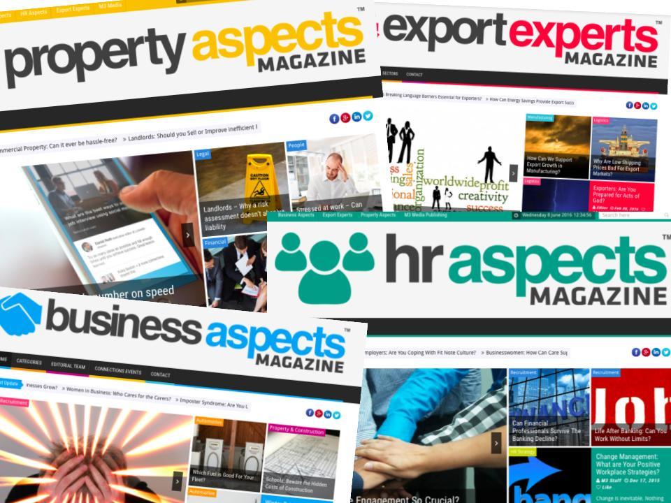 M3 Media Publishing content in magazines